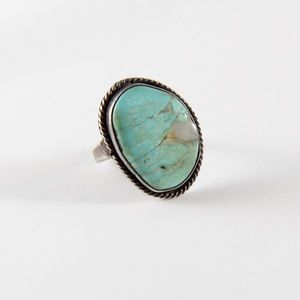 Jewelry - Navajo Sterling Braided Turquoise Ring 7.25